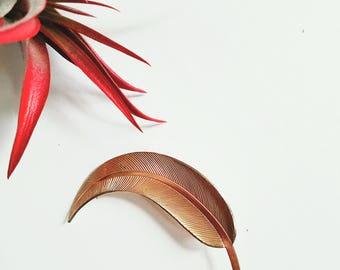Vintage Golden Leaf Brooch/Pin