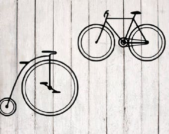 Bicycle SVG | Bicycle Cut File | Silhouette Files | Cricut Files | SVG Cut Files | PNG Files