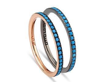Turquoise Eternity Band Ring