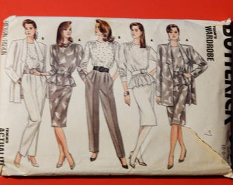 Butterick 5728 jacket, top, skirt and pants pattern Uncut Sizes 6, 8 and 10
