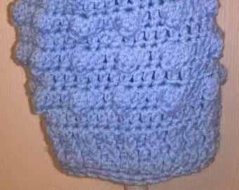 large baby pompom popcorn hat crochet