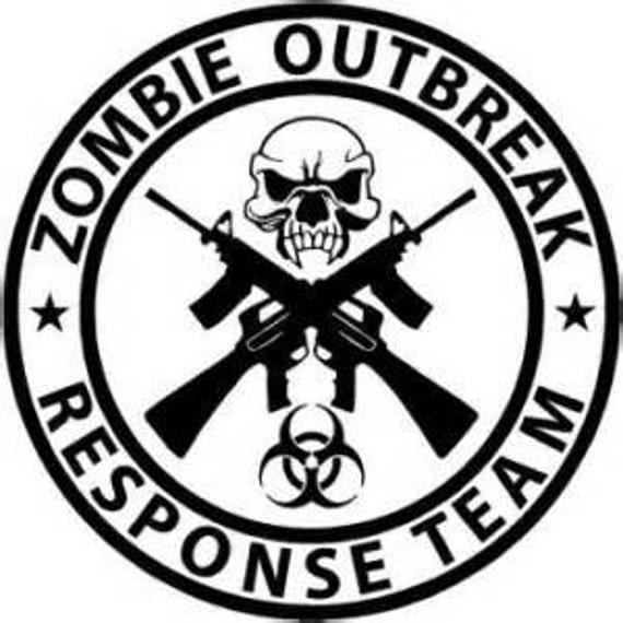 Zombie Outbreak  Response Decal Sticker, 30 oz decal, 20 oz decal, vinyl decal for tumbler, vinyl decal for car, vinyl tumbler, car decals