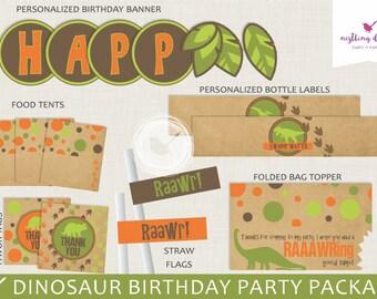 Dinosaur Party Package   Dinosaur Birthday   Dinosaur Party Decorations   Dinosaur Banner   Printable Party Package   Dinosaur Decor   Dino