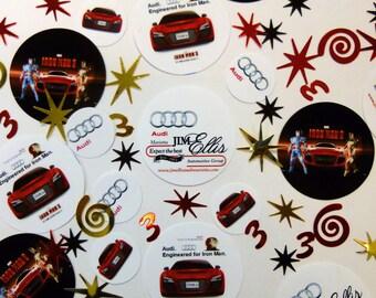 Kia's Custom Corporate Photo Confetti 100 piece photo order with accent pieces