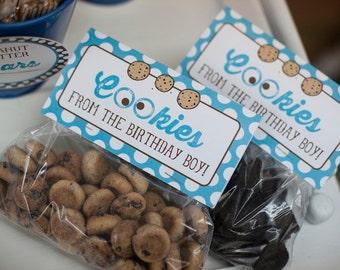 DIY, Cookie-Monster-Inspired fold-over FAVOR TAG, Instant Download