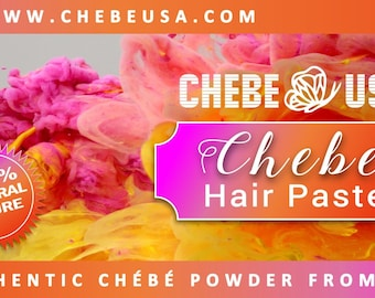 Chebe Hair Paste - Made with Tallow Chebe Powder Cow Fat (Tallow) Ostrich Oil. Traditionally Chadian Women use Cow fat with the chebe - 8 OZ