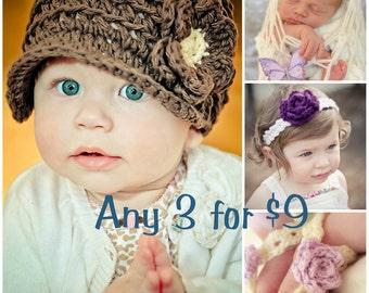3 Für 9 Dollar - Crochet Patterns - verkaufen was Sie machen