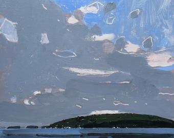 Rice Lake Pause, Original Landscape Painting on Panel, Stooshinoff
