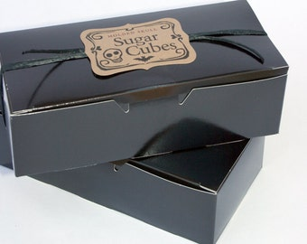 Bulk Sugar Cubes 2 Boxes - 72 Sugar Skulls //  Valentine Skull Gift // Sugar Skull Gift // Gothic Valentine