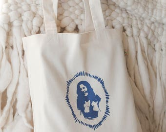 Tote bag | Yolanda in Indigo | 100% cotton | screen-printed