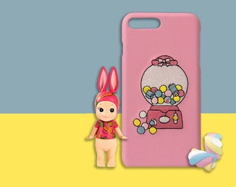 Pink Faux Leather Candy Dispenser iPhone Case