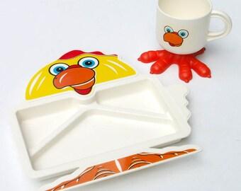 Demory plat poulet pattes ensemble tasse assiette est divisée