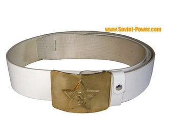 Soviet Army soldier PARADE military BELT white