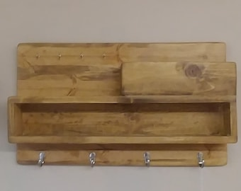 wall mount key and coat rack
