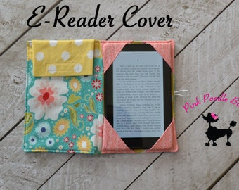 """Kindle Cover Pattern, Ereader Case Pattern, PDF Sewing Patterns, iPad, iPad Mini, Kindle Fire, """"The E-reader Cover"""""""
