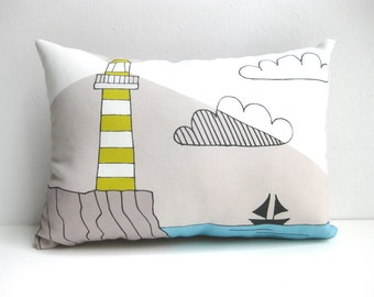 Lighthouse Cushion, Lighthouse Throw Pillow, Lighthouse Pillow, Decorative Cushion, Decorative Pillow