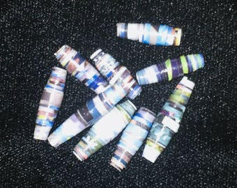 Paper Beads - 20ct Nat Geo Light Blues
