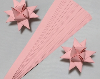 "Single Color ""Cotton Candy Pink"", 5 sizes , 25 inch long, (50 strips)"