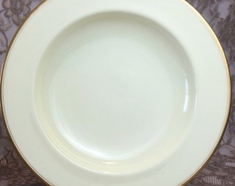 1 Royal Worcester rim soup bowl 1890s Victorian fine china cream white & gold
