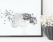 Birds in a Tree Print | 8...