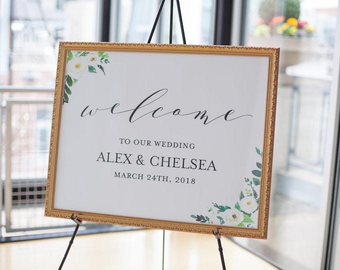 Welcome to Our Wedding - Wedding Signage - Table Sign Wall Art - 18x24/24x36 Editable PDF - Digital Download Printable Air and Sea Studio