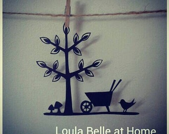 Green Fingers, an original mini papercut template by Loula Belle at Home