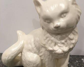 Ivory Cat Kitten Planter