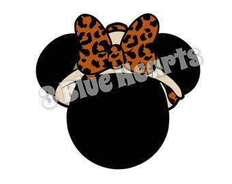 Safari Cheetah Minnie svg studio dxf pdf jpg png