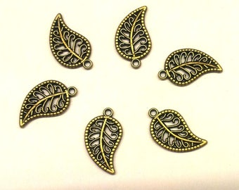 Set of 10 sheets - T 33 bronze metal charms