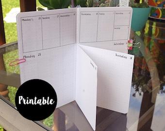 Pocket, Dutch Door, July, August, September, 2018, Bundle, Calendar, TN Insert, weekly, daily, Printable
