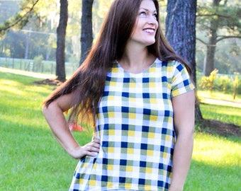 Ladies Two Tone Tunic - PDF Sewing Pattern