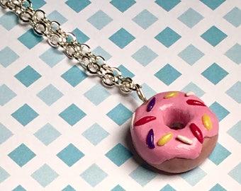 Strawberry donut necklace!