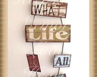 Family wall hanging vintage metal sign