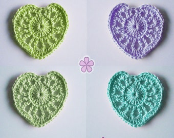 Easy crochet heart PDF Pattern. Beginner level. Cheap crochet pattern _ C03