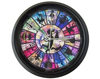 Persona - Arcana - Wall Clock - Gamer Decor -  Video Game Art - Video Game Decor - Video Game Wall Clock - Gamer Gift - College Dorm Decor