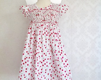 Smocked Dress Fruit Dress Icing