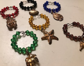 Tropical Themed Wine Charms