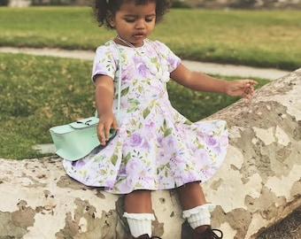 Girls spring dress - spring dress for girls - girls spring outfit - girls floral dress - dress for girls - girls outfit for spring