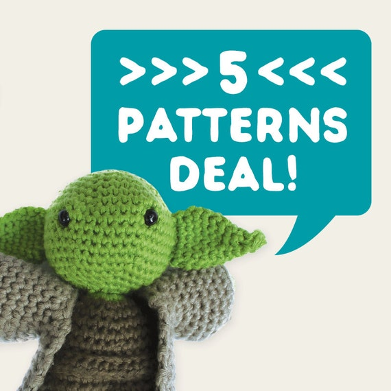 5 Patterns Deal. Special Offer, Discount Price, Set of 5. Amigurumi Pattern PDF.