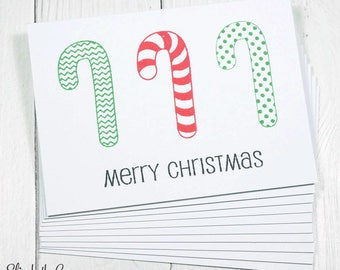 Boxed Christmas Cards, Candy Canes, Handmade Christmas Cards, Christmas Greeting Cards, Handmade Greeting Cards, Holiday Cards