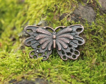 Copper rivet leather tie