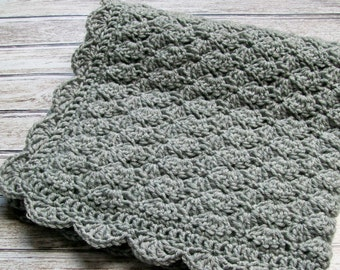 Crochet Baby Blanket Gray Grey Baby Blanket Baby Boy Blanket Baby Girl Blanket Crib Stroller Car Seat Blanket Baby Bedding Baby Shower Gift