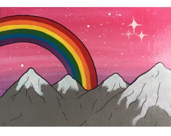 Rocky Mountain Skies in Acrylic