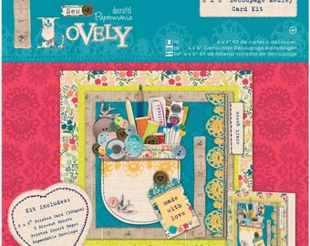 """Papermania Sew Lovely Card Kit 6""""X6"""""""
