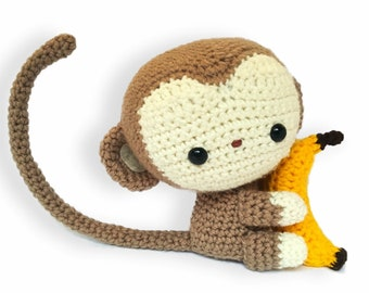 Monkey amigurumi plush custom made for child