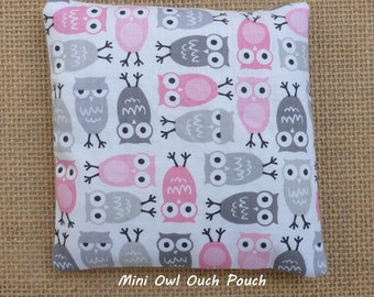 Ouch Pouch, Boo Boo Bag, Owls, Baby Shower Gift, Kids Therapy, Reusable Hot Cold Rice Bag, Microwave, InHer Inner Peace
