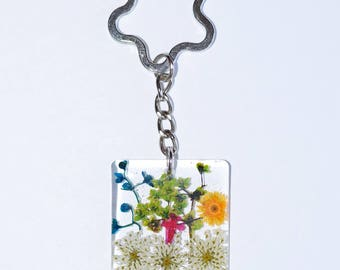 Keychain natural flowers