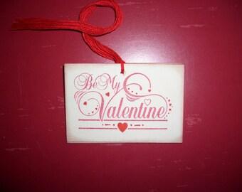 Be My Valentine Gift Tag - Wedding Tag - Shower Tag - Wish Tree Tag - Set of Six