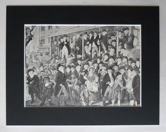 Georgian Print of the 1796 Westminster Election, Charles James Fox Decor, Available Framed, Whig Art, British History St Pauls Covent Garden