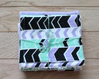 Burpee | Burp cloth | Chenille | Wash cloth | Purple | Arrows